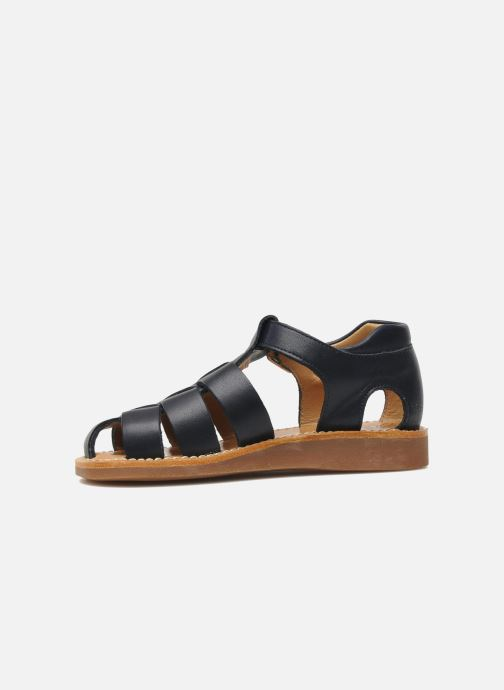Sandals Pom d Api Yapo Papy Buckle Blue front view