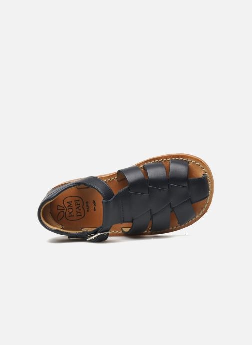 Sandals Pom d Api Yapo Papy Buckle Blue view from the left