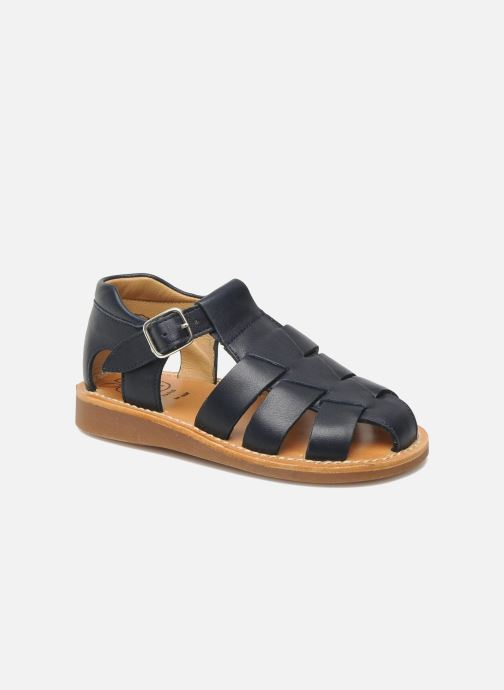 Sandals Pom d Api Yapo Papy Buckle Blue detailed view/ Pair view