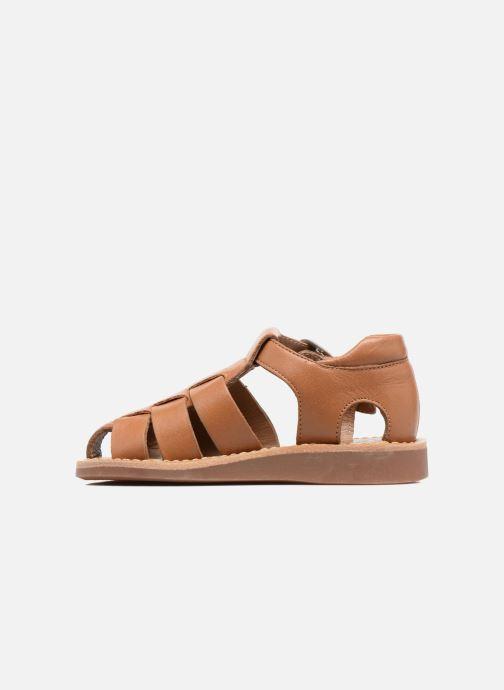 Sandales et nu-pieds Pom d Api Yapo Papy Buckle Marron vue face
