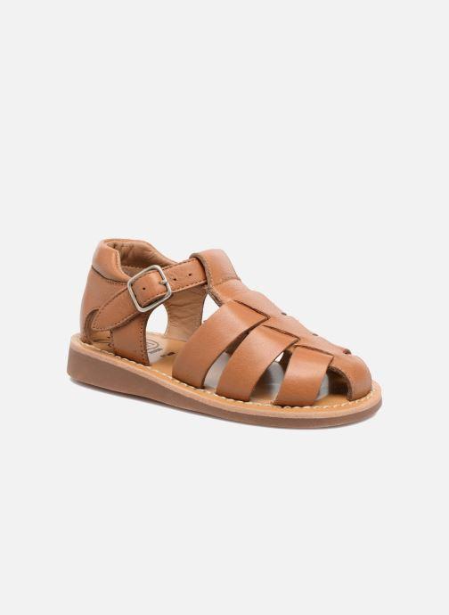 Sandales et nu-pieds Pom d Api Yapo Papy Buckle Marron vue détail/paire