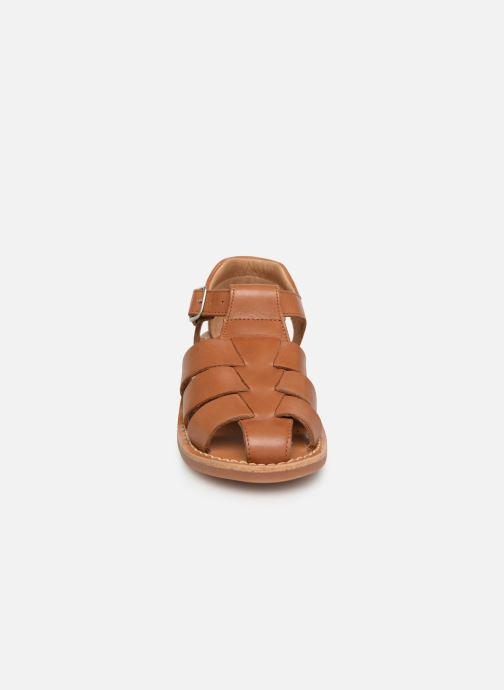 Sandalias Pom d Api Yapo Papy Buckle Marrón vista del modelo