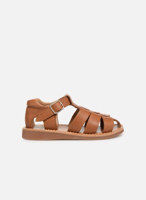 Sandales et nu-pieds Pom d Api Yapo Papy Buckle Marron vue derrière