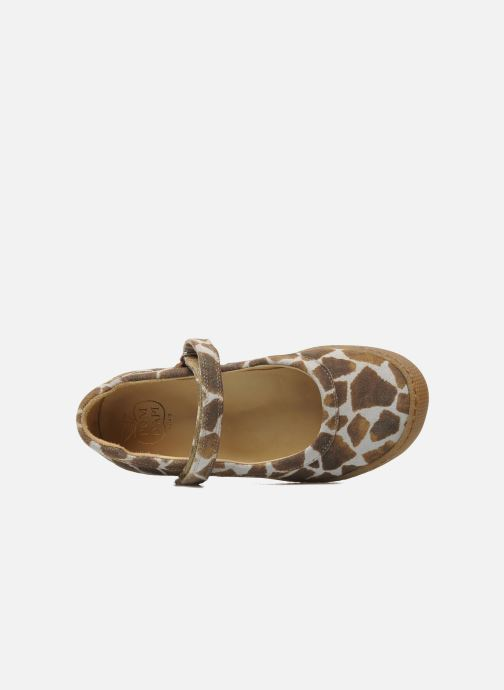 Ballerines Pom d Api NEW SCHOOL BABY Marron vue gauche
