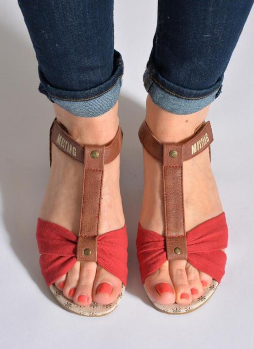 Sandals Mustang shoes Beibei Blue view from underneath / model view
