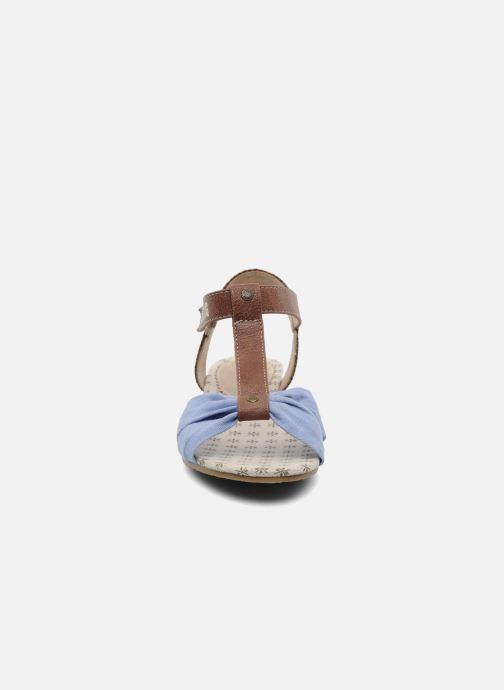 Sandalen Mustang shoes Beibei blau schuhe getragen