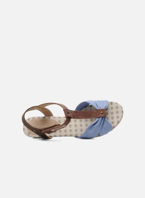 Sandalen Mustang shoes Beibei blau ansicht von links