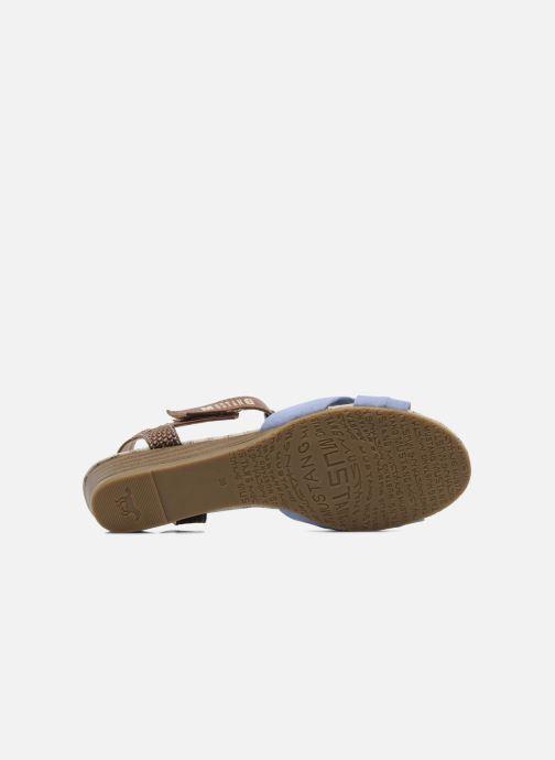 Sandalen Mustang shoes Beibei blau ansicht von oben
