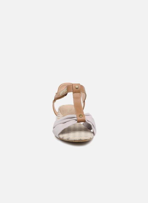 Sandales et nu-pieds Mustang shoes Beibei Rose vue portées chaussures