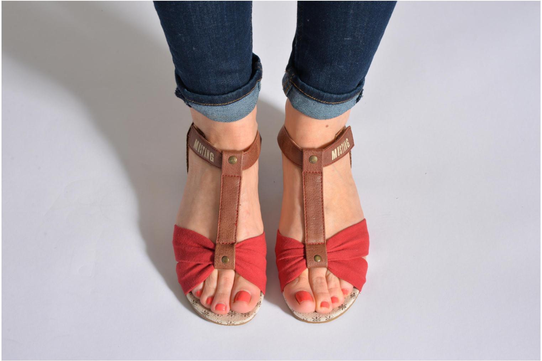 Sandales et nu-pieds Mustang shoes Beibei Bleu vue bas / vue portée sac