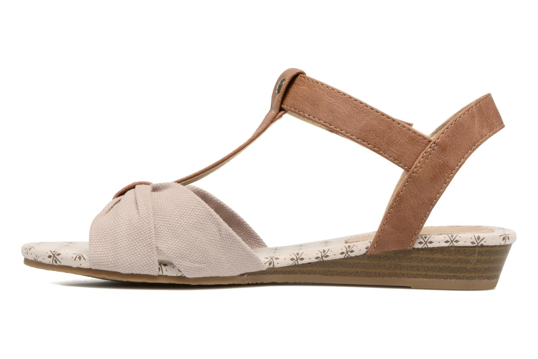 Sandales et nu-pieds Mustang shoes Beibei Beige vue face