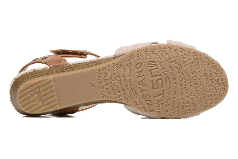 Sandales et nu-pieds Mustang shoes Beibei Beige vue haut