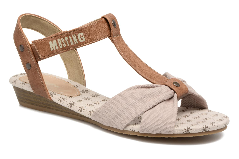 Sandales et nu-pieds Mustang shoes Beibei Beige vue détail/paire