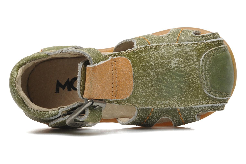 Sandalen Mod8 ALUCINE grün ansicht von links
