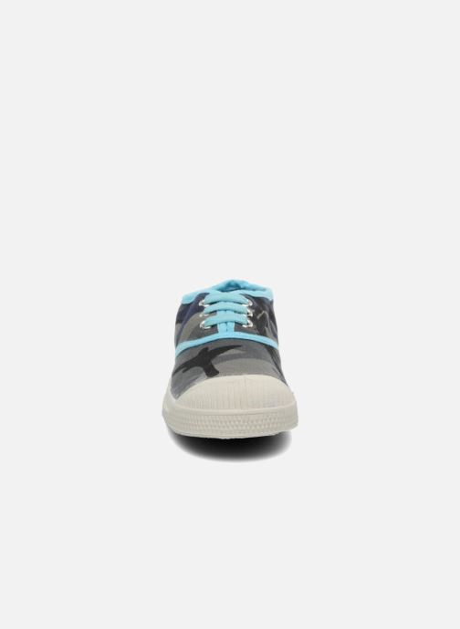 Trainers Bensimon Tennis Camouflage E Blue model view