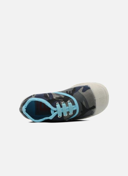 Trainers Bensimon Tennis Camouflage E Blue view from the left