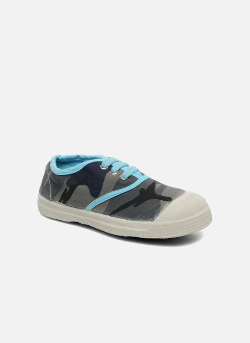 Trainers Bensimon Tennis Camouflage E Blue detailed view/ Pair view