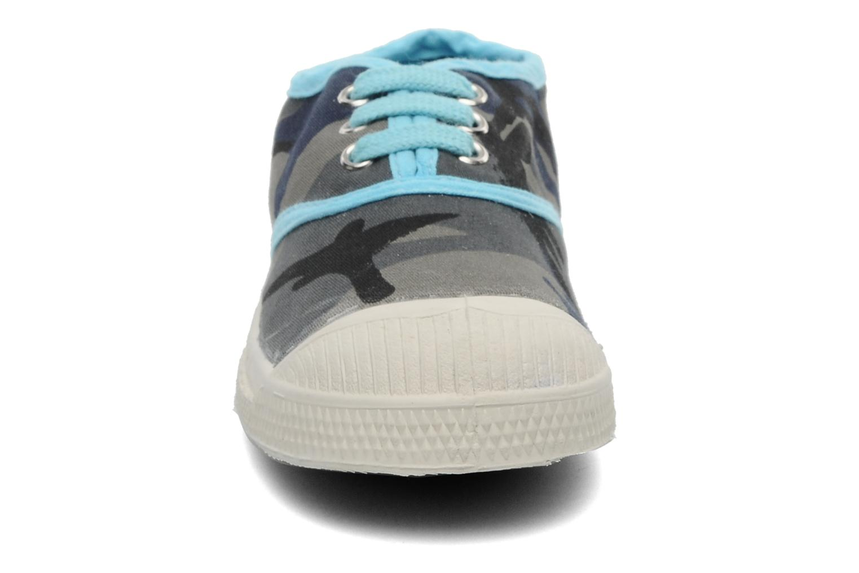 Baskets Bensimon Tennis Camouflage E Bleu vue portées chaussures