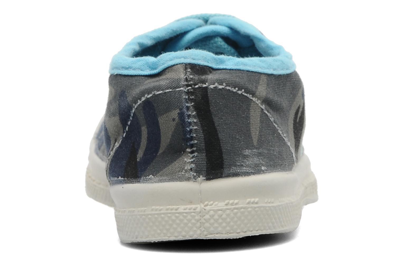 Baskets Bensimon Tennis Camouflage E Bleu vue droite