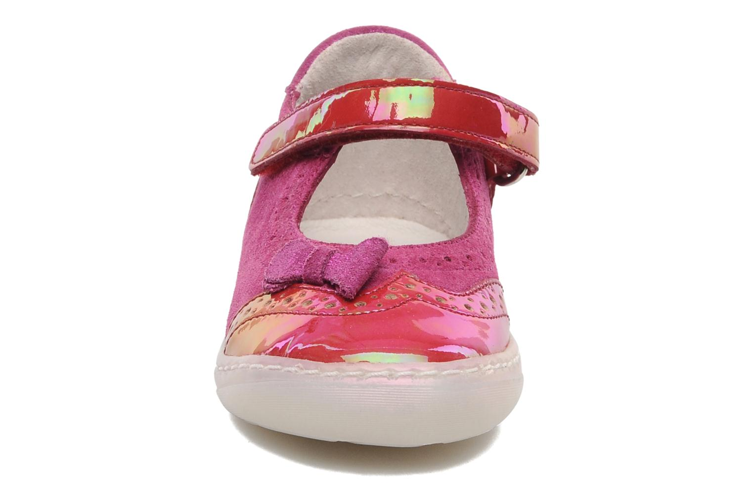 Ballerines Shoo Pom MINI MILA BABY KNOT Rose vue portées chaussures