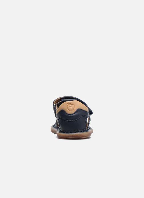 Sandales et nu-pieds Shoo Pom Crespin Tonton Bleu vue droite