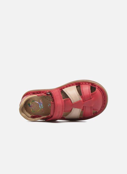 Sandales et nu-pieds Shoo Pom Crespin Tonton Rouge vue gauche