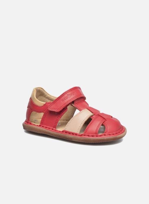 Sandales et nu-pieds Shoo Pom Crespin Tonton Rouge vue détail/paire