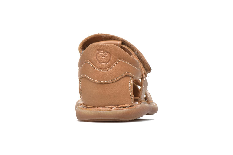 Sandales et nu-pieds Shoo Pom Crespin Tonton Marron vue droite