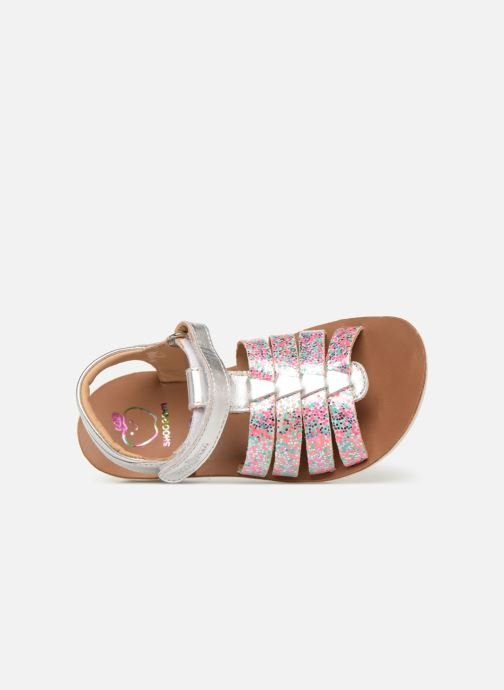 Sandals Shoo Pom Goa Spart Silver view from the left