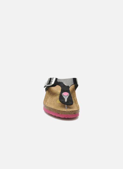 Tongs Birkenstock Gizeh Birko-Flor Noir vue portées chaussures