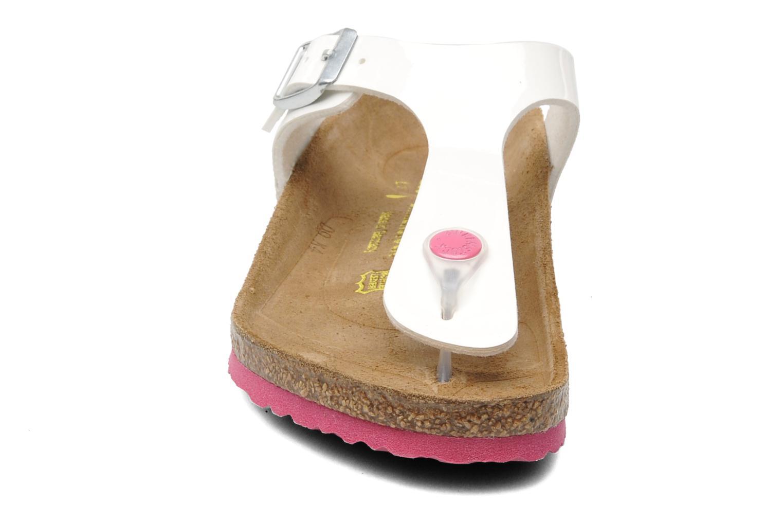 Tongs Birkenstock Gizeh Birko-Flor Blanc vue portées chaussures