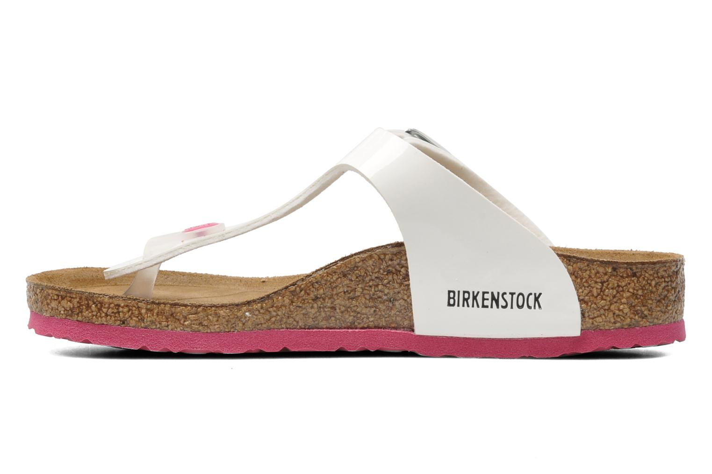Flip flops & klipklapper Birkenstock Gizeh Birko-Flor Hvid se forfra