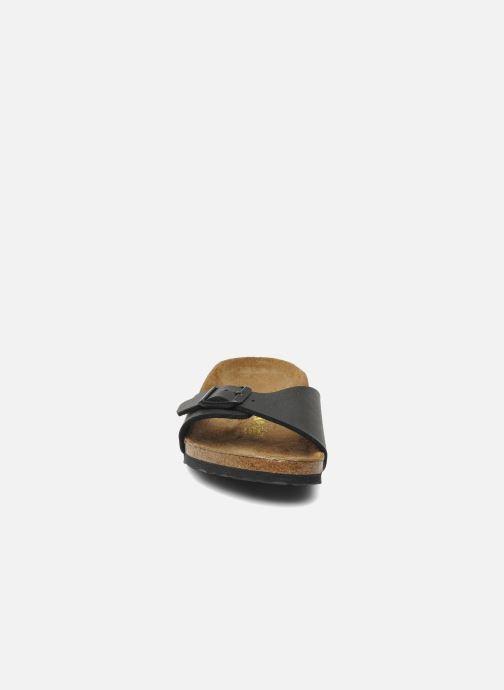 Sandalen Birkenstock Madrid Birko Flor schwarz schuhe getragen