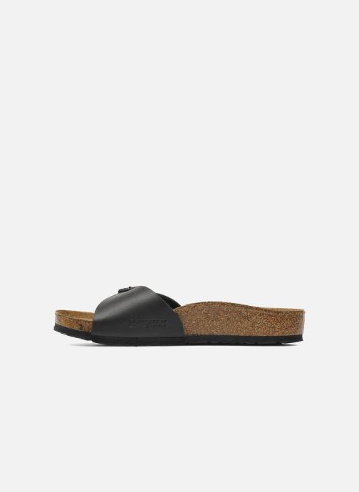 Sandalen Birkenstock Madrid Birko Flor schwarz ansicht von vorne