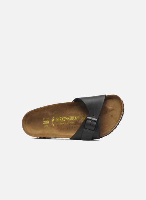 Sandales et nu-pieds Birkenstock Madrid Birko Flor Noir vue gauche