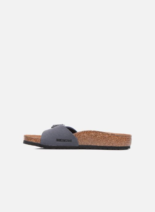 Sandales et nu-pieds Birkenstock Madrid Birko Flor Bleu vue face