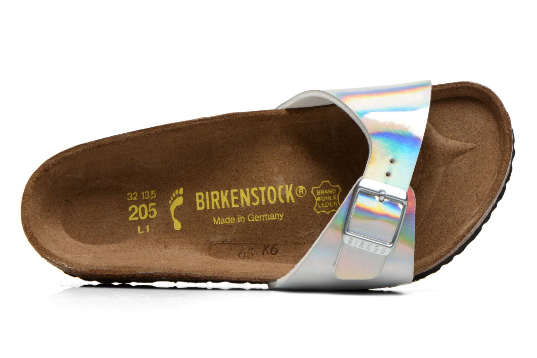 Sandales et nu-pieds Birkenstock Madrid Birko Flor Argent vue gauche