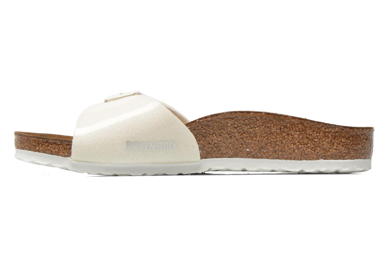 Sandales et nu-pieds Birkenstock Madrid Birko Flor Blanc vue face