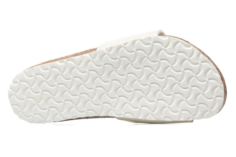 Sandales et nu-pieds Birkenstock Madrid Birko Flor Blanc vue haut