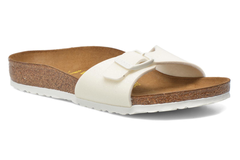 Sandales et nu-pieds Birkenstock Madrid Birko Flor Blanc vue détail/paire