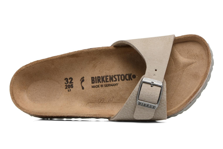 Sandales et nu-pieds Birkenstock Madrid Birko Flor Beige vue gauche