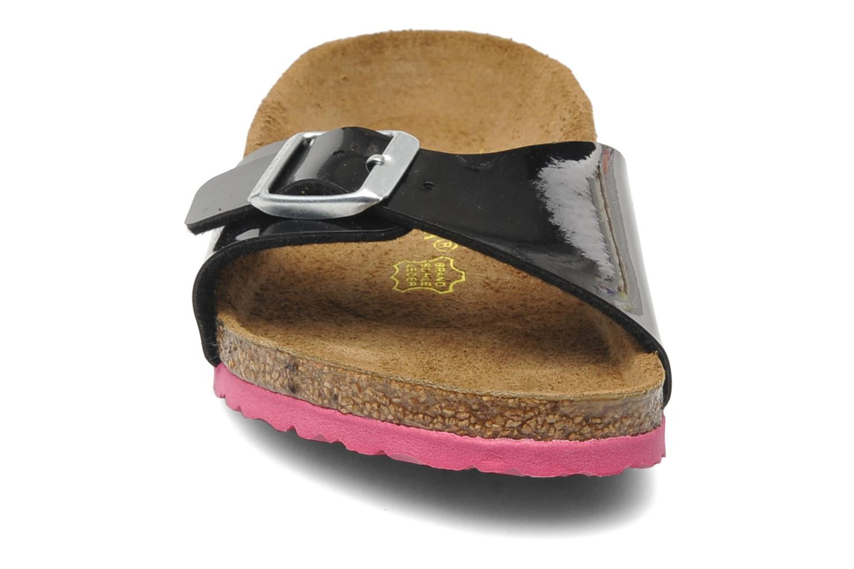 Sandales et nu-pieds Birkenstock Madrid Birko-Flor Noir vue portées chaussures