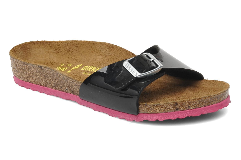 Sandales et nu-pieds Birkenstock Madrid Birko-Flor Noir vue détail/paire