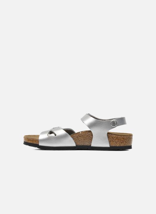 Sandali e scarpe aperte Birkenstock Rio Birko Flor Argento immagine frontale