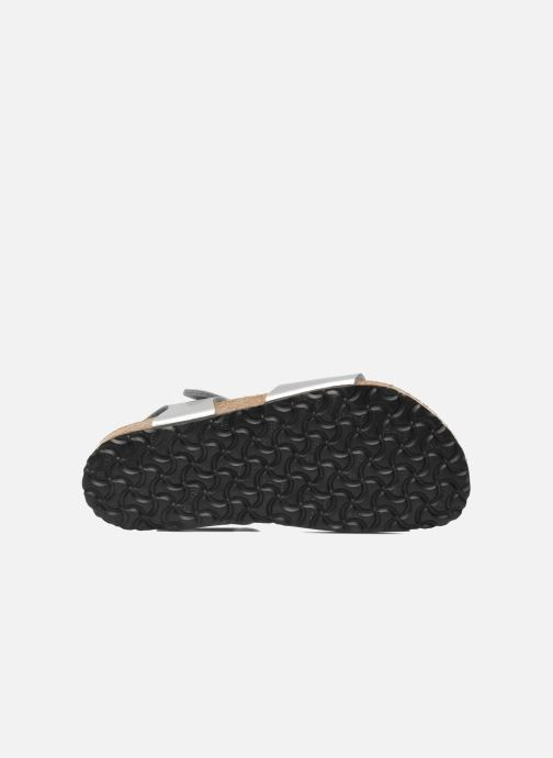 Sandali e scarpe aperte Birkenstock Rio Birko Flor Argento immagine dall'alto