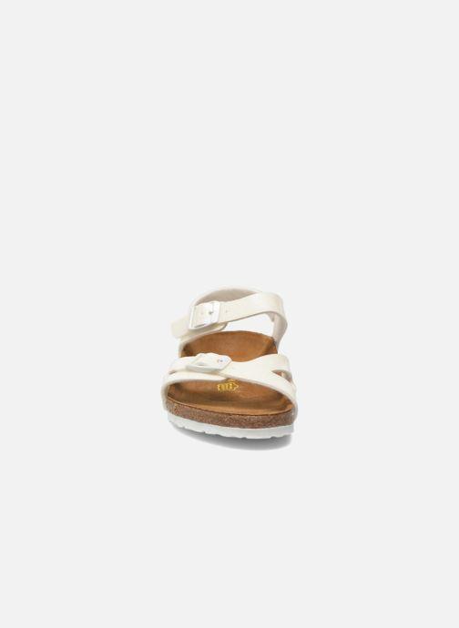 Sandales et nu-pieds Birkenstock Rio Plain Birko Flor Blanc vue portées chaussures