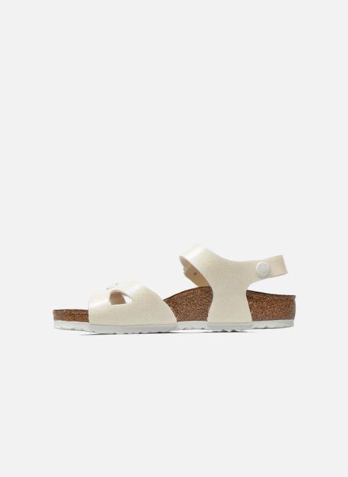 Sandales et nu-pieds Birkenstock Rio Plain Birko Flor Blanc vue face