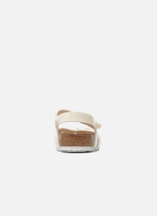 Sandales et nu-pieds Birkenstock Rio Plain Birko Flor Blanc vue droite
