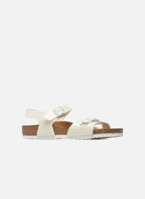 Sandales et nu-pieds Birkenstock Rio Plain Birko Flor Blanc vue derrière