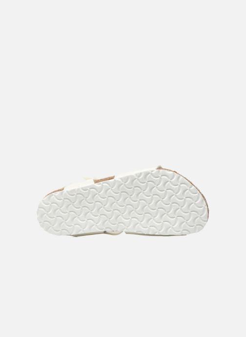 Sandales et nu-pieds Birkenstock Rio Plain Birko Flor Blanc vue haut